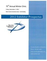 2012 Exhibitor Prospectus - Toronto Academy of Dentistry