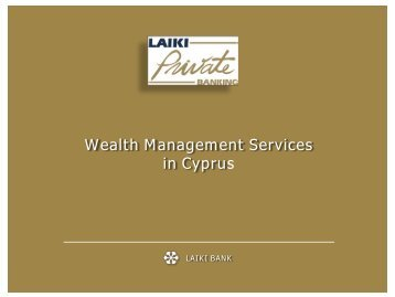 Wealth Management Services in Cyprus - Intax Info