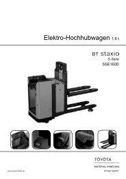 Elektro-Hochhubwagen Staxio SSE160D - Toyota Material Handling ...