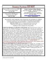 Arneson Auctions EST 1937 - Arneson Auction Service