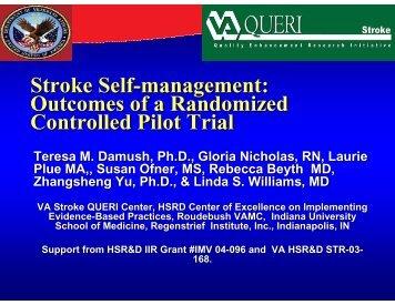 Stroke Self-management - Society of Behavioral Medicine