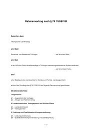 Rahmenvertrag nach § 78 f SGB VIII