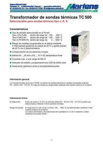 TC500-00- Prospekt - Martens Elektronik GmbH
