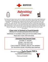 Babysitting Course
