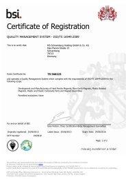 Certificate of Registration - MS-Schramberg