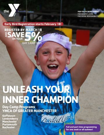 Day Camp Brochure - YMCA of Greater Manchester
