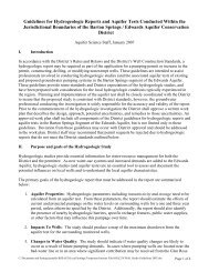 Guidelines for Hydrogeologic Reports and Aquifer Tests Conducted ...