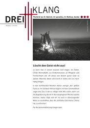 DreiKlang Juni 2013 - GDG Aachen-Nordwest