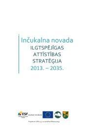Ilgtspējīgas attīstības stratēģija - Inčukalns.lv