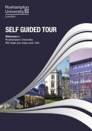 self-guided tour guide here - University of Roehampton