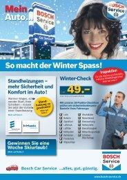 Sicherheit und Komfort im Auto! - Bosch Service