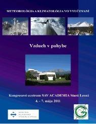 Meteorológia a klimatológia vo vyučovaní II. Vzduch v pohybe