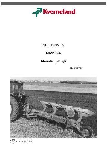 Spare Parts List Model EG Mounted plough - Hjallerup ...