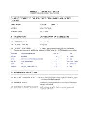 MATERIAL SAFETY DATA SHEET 1 – IDENTIFICATION OF THE ...