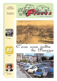 Anno 5 - Numero 11 DICEMBRE 2008 Periodico dell ... - La Piazza