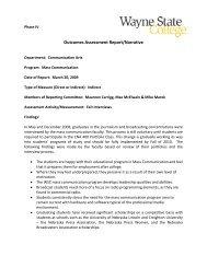 Outcomes Assessment Report/Narrative