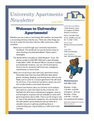 University Apartments Newsletter July 2013 - UCLA - Housing