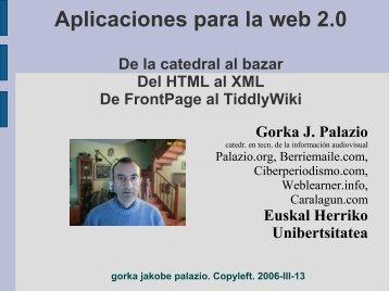 Aplicaciones para la web 2.0