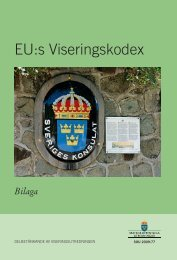 EU:s Viseringskodex SOU 2009:77 - Government Offices of Sweden