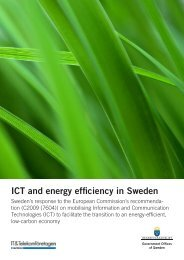 ICT and energy efficiency in Sweden - Government Offices of Sweden