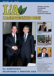 L'Agrotecnico Oggi febbraio 09 - Collegio Nazionale degli Agrotecnici