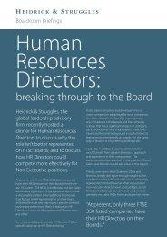 Human Resources Directors - Heidrick & Struggles