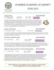 June 2013 Summer Academy flyer - Mt. Diablo Unified School District