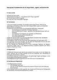 Satzung des Freundeskreises der St. Gregor-Kinder-, Jugend- und ...