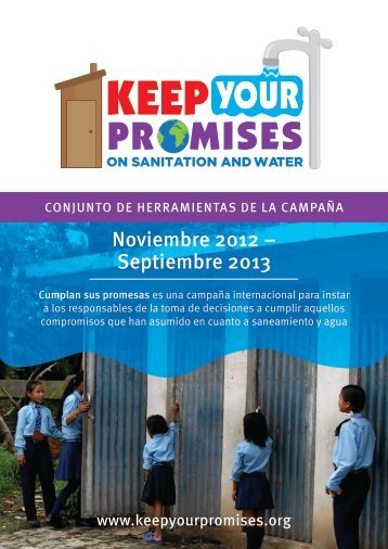 Noviembre 2012 – Septiembre 2013 - Agua 2013
