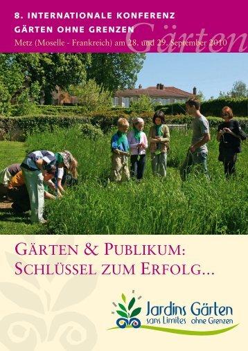 GÄRTEN & PUBLIKUM: SCHLÜSSEL ZUM ERFOLG… - Sansehaver
