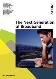 The Next Generation of Broadband - Atkins