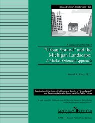"""Urban Sprawl"" and the Michigan Landscape - Reason Foundation"