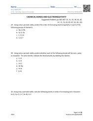 Ch 8 Practice Problems - AP Chemistry