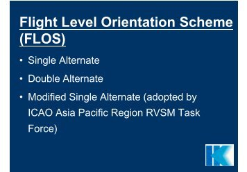 Flight Level Orientation Scheme (FLOS)(Open with new window)