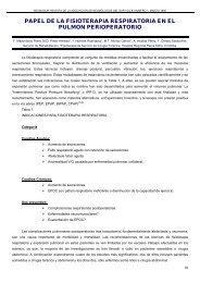 papel de la fisioterapia respiratoria en el pulmon ... - Neumosur