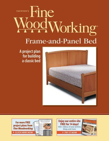 Frame-and-Panel Bed - Fine Woodworking