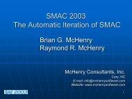 PDF file, 1 slide per page, 2.5 megs - McHenry Software