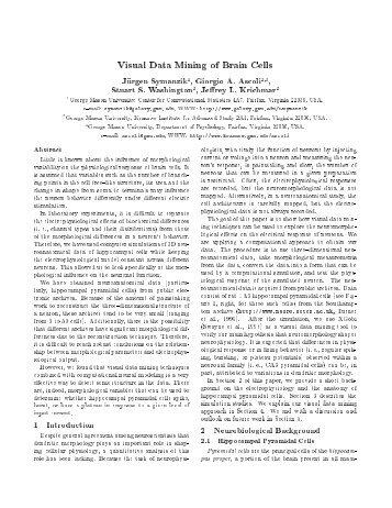 Visual Data Mining of Brain Cells - CiteSeerX
