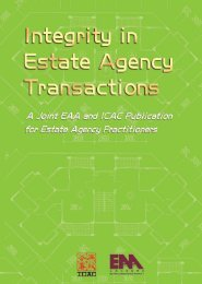 Integrity in Estate Agency Transactions (published jointly with ICAC