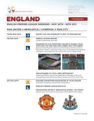 global team travel ENGLISH PREMIER LEAGUE ... - UK Elite Soccer