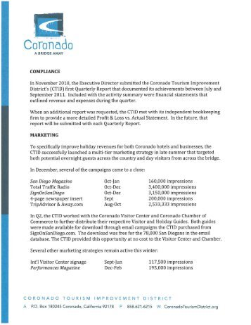 here - Coronado Tourism Improvement District