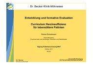 Konzept, Durchführungspraxis und Evaluation des Curriculums ...