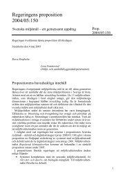 Svenska miljömål – ett gemensamt uppdrag - Regeringen