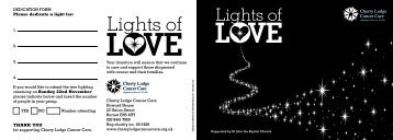 Download our Lights of Love Brochure - Cherry Lodge Cancer Care