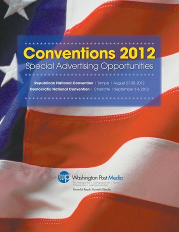 Conventions 2012 - Washington Post Ads