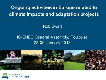 Ongoing activities related to vulnerability, impact ... - the ENES Portal