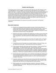 Alcohol and Drug Use Executive Summary