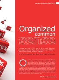 Organized Common Sense - Oliver Wight Americas