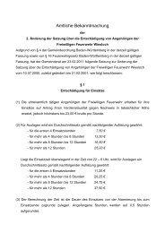 Entschädigungssatzung Freiwillige Feuerwehr ... - Stadt Wiesloch