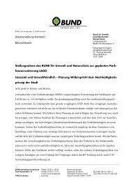 Stellungnahme des BUND zur geplanten ... - BUND Konstanz